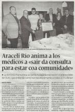 """Araceli Río recibe el premio Billó de Ouro, que entiende como """"un recoñecemento a todas as mulleres"""""""